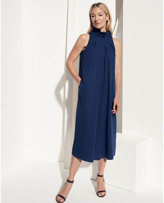 G. Label Chase Tie-Neck Mid-Length Dress