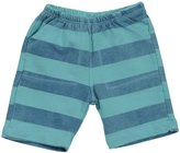 Charlie Rocket Stripe Terry Shorts (Baby) - Lagoon-3-6 Months