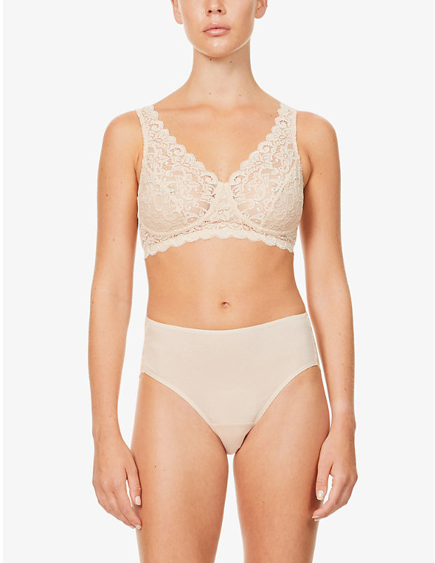 Thumbnail for your product : Hanro Moments stretch-lace maxi briefs