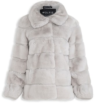 Wolfie Fur Made For Generations Rabbit Fur Leather Jacket