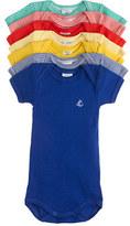 Petit Bateau Baby seven-pack short-sleeve bodysuits