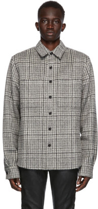 Faith Connexion SSENSE Exclusive Grey Wool and Mohair Checkered Shirt
