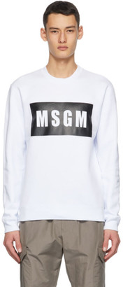 MSGM White Logo Box Sweatshirt