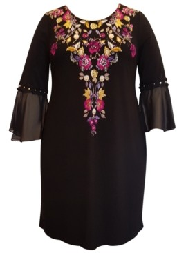 JM Collection Plus Size Parisian Holiday Dress, Created for Macy's