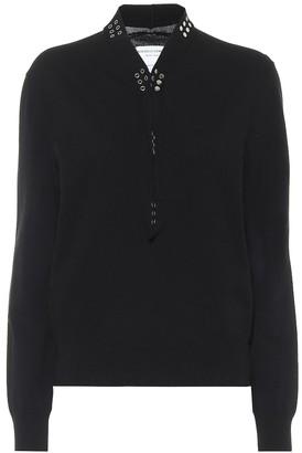 Bottega Veneta Embellished cotton-blend sweater