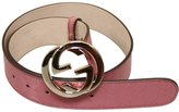 Gucci Women's GG Canvas Interlocking G Buckle Imprime Belt