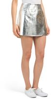 Juniors Metallic Skirt