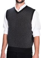 Toscano Aqua by Geometric Print Vest - Merino Wool (For Men)