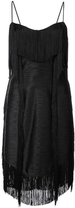 Balmain short fringed dress