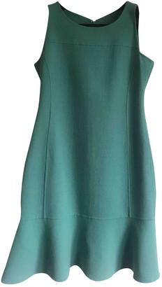 Armani Collezioni Turquoise Wool Dress for Women