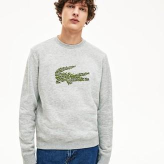 Lacoste Men's Crewneck Croco Magic Logo Fleece Sweatshirt