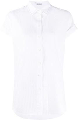 Brunello Cucinelli Textured Short Sleeve Shirt