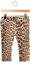 Roberto Cavalli Girls' Ruffle-Trimmed Leopard Pants