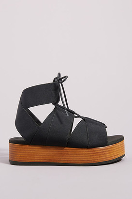 Kelsi Dagger Brooklyn Decatur Platform Sandals By in Black Size 7
