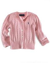 Ralph Lauren Baby Girls Long-Sleeved Cotton Cardigan