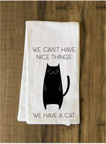 One Bella Casa Can't Have Nice Things Cat Tea Towel