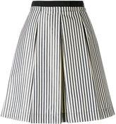 Moncler striped full skirt - women - Cotton/Polyamide - 40