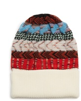Missoni Contrast intarsia-knit wool-blend beanie hat