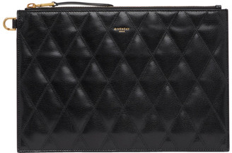 Givenchy Black Quilted Medium GV3 Pouch