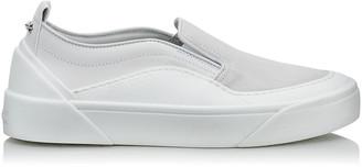 Jimmy Choo CHOO V.B.C SLIP ON/F White Suede and Soft Leather Slip On Trainers