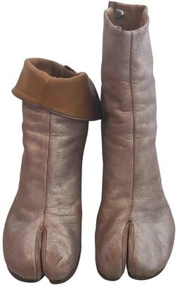 Maison Margiela Tabi Silver Leather Boots