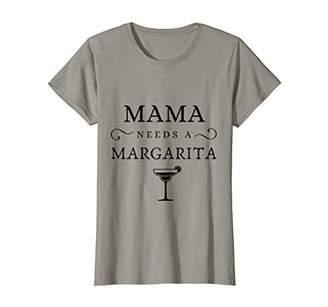Womens Mama Needs A Margarita T-Shirt Mother's Drinking Shirt