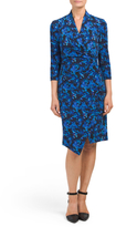 Three-quarter Sleeve Surplice Dress