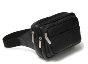 Royce New York Royce Multi Compartment Fanny Pack in Colombian Genuine Leather