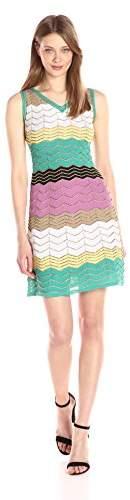 M Missoni Women's Color Block Zig Zag Dress