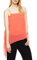 Vince Camuto Dotted Draped Tank