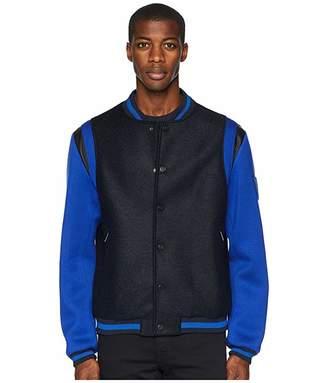 Versace Varsity Jacket (Black/Blue) Men's Coat