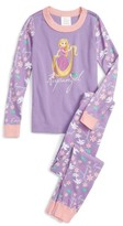 Hanna Andersson Girl's Disney Princess Cotton Two-Piece Fitted Pajamas