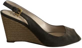 Prada Grey Suede Sandals