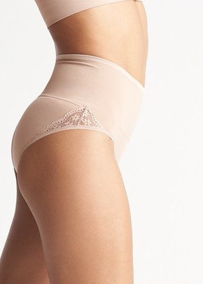Yummie Ultralight Seamless Shaping Brief with Lace Insert