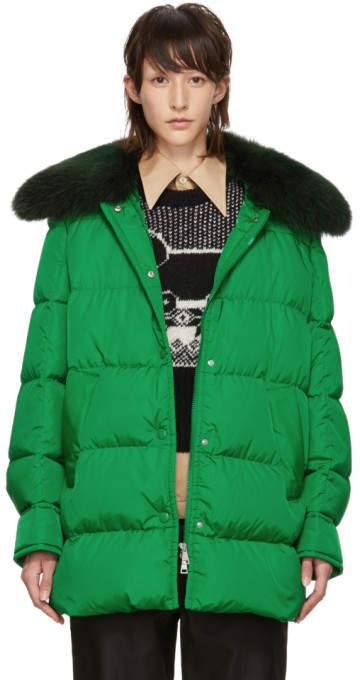 Moncler Green Down Mesange Jacket
