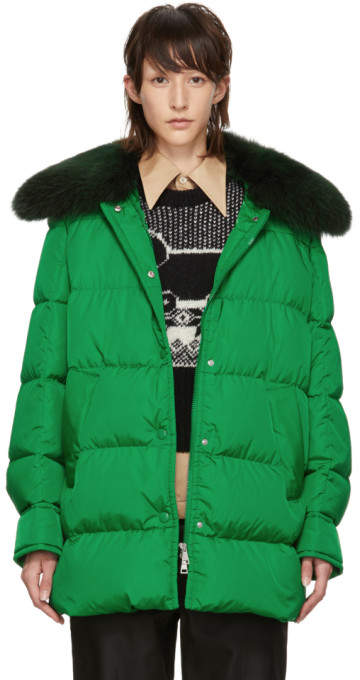 Moncler Green Down Mesange Jacket