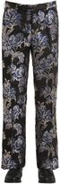 Christian Pellizzari 27cm Lurex Floral Jacquard Trousers