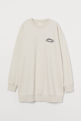 H&M Sweatshirt Dress - Beige