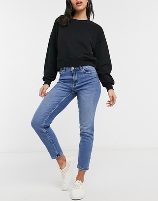 Only Erica slim straight leg jeans in blue