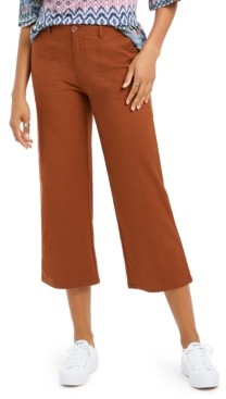 Style&Co. Style & Co Wide-Leg Cropped Pants, Created for Macy's
