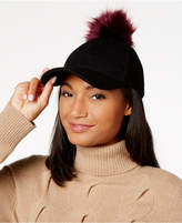 INC International Concepts I.n.c. Interchangeable Pom Pom Baseball Cap, Created for Macy's