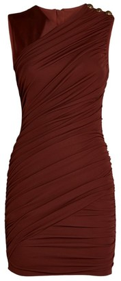Balmain Drape Twisted Mini Dress