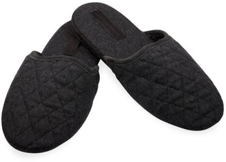 Sofia Cashmere Quilted Cashmere Slippers