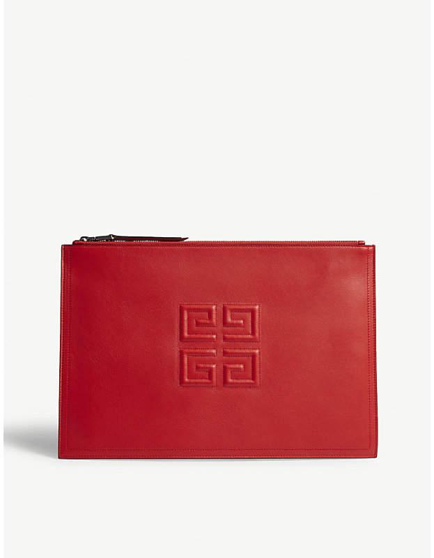 Givenchy Emblem logo leather pouch