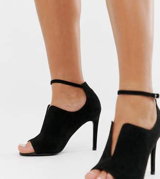 Asos Design DESIGN Wide Fit Worth high heels-Black
