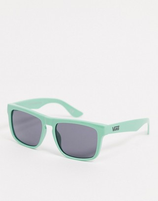 Vans squared off sunglasses in green