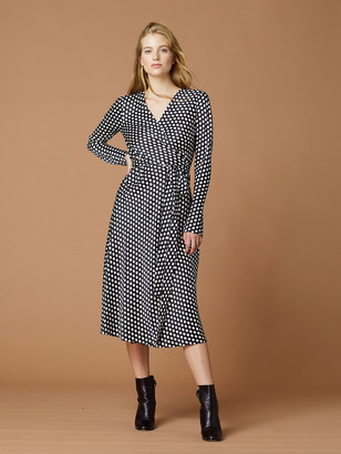 Diane von Furstenberg Tilly Satin Wrap Dress
