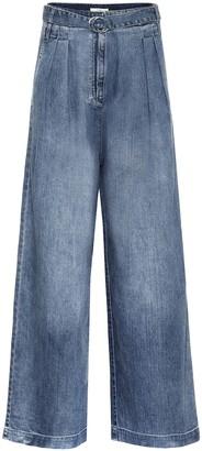 Tibi Stella high-rise wide-leg jeans