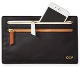 Mark And Graham Double Zipper Leather Pouch