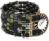 Ziio Pixel Black Beaded Bracelet